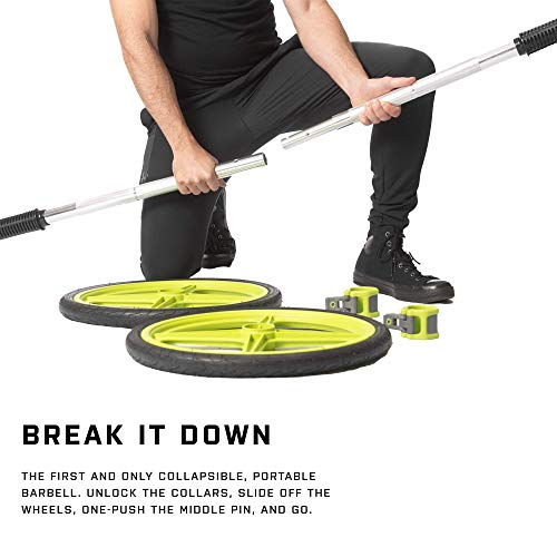 AXLE-Versatile-Olympic-Barbell-with-Optional-Weighted-Olympic-Plate-Loading-Fully-Collapsible-0-0