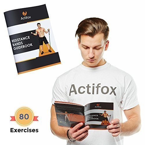 Actifox-Resistance-Band-Set-by-Portable-Gym-Set-for-Weight-Exercise-Fitness-Workout-Yoga--5-Stackable-Bands-5130lbs-Ankle-Straps-Handles-Door-Anchor-Bag-80-Exercises-Book-Paperback-0-3