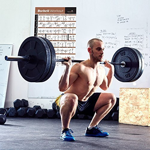 BARBELL-WORKOUT-EXERCISE-POSTER-LAMINATED-Home-Gym-Weight-Lifting-Chart-Build-Muscle-Tone-Tighten-Strength-Training-Routine-Body-Building-Guide-w-Free-Weights-Resistance-20x30-0-3