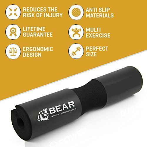 BEAR-STRENGTH-CONDITIONING-Next-Generation-Squat-Pad-Comfortable-Barbell-Sponge-for-Hip-Thrusts-Squats-and-Lunges-0-3