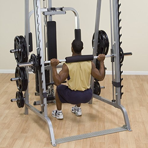 Body-Solid-GS348Q-Series-7-Linear-Bearing-Smith-Machine-with-Olympic-Rubber-Grip-Weight-Plates-0-4