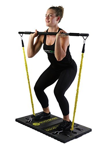 BodyBoss-Home-Gym-20-Full-Portable-Gym-Home-Workout-Package-1-Set-of-Resistance-Bands-Collapsible-Resistance-Bar-Handles-Full-Body-Workouts-for-Home-Travel-or-Outside-0-0