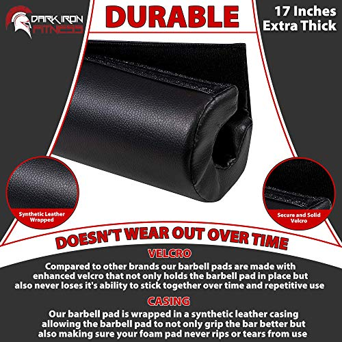 Dark-Iron-Fitness-17-Extra-Thick-Barbell-Neck-Pad-Shoulder-Support-for-Weight-Lifting-Crossfit-Powerlifting-More-Fits-2-Inch-Olympic-Size-Bars-and-a-Smith-Machine-Bar-Perfectly-0-1
