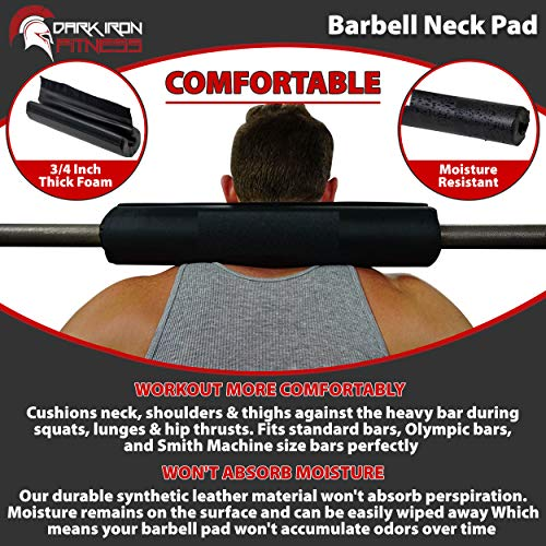 Dark-Iron-Fitness-17-Extra-Thick-Barbell-Neck-Pad-Shoulder-Support-for-Weight-Lifting-Crossfit-Powerlifting-More-Fits-2-Inch-Olympic-Size-Bars-and-a-Smith-Machine-Bar-Perfectly-0-2