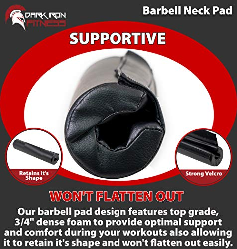 Dark-Iron-Fitness-17-Extra-Thick-Barbell-Neck-Pad-Shoulder-Support-for-Weight-Lifting-Crossfit-Powerlifting-More-Fits-2-Inch-Olympic-Size-Bars-and-a-Smith-Machine-Bar-Perfectly-0-3