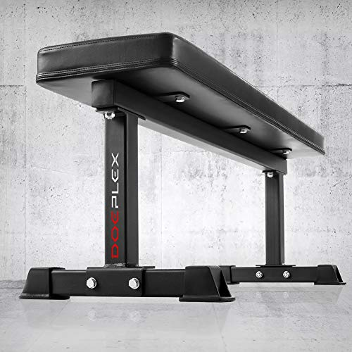 Doeplex-Flat-Weight-Bench-Sit-up-Abdominal-Exercise-Workout-Bench-1200-lb-Rating-for-Weightlifting-0-10