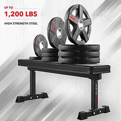 Doeplex-Flat-Weight-Bench-Sit-up-Abdominal-Exercise-Workout-Bench-1200-lb-Rating-for-Weightlifting-0-7