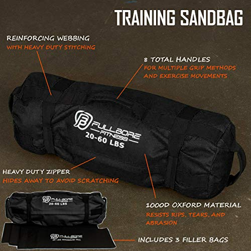 Fullbore-Fitness-Adjustable-Weight-Sandbags-for-Fitness-Workout-Exercise-and-Weight-Training-Great-Sandbag-Weights-for-Home-Gym-and-Cross-Training-20-60-lbs-0-0