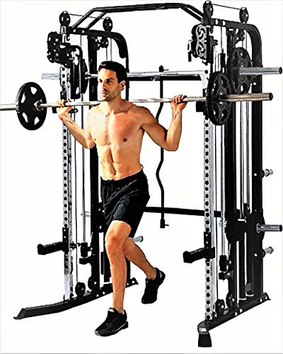 Functional-Trainer-Smith-Machine-Combo-All-in-One-Commercial-Grade-Ultimate-Home-Gym-Machine-Complete-Strength-Solution-MiM-USA-SMFT-1001-Pro-0-0