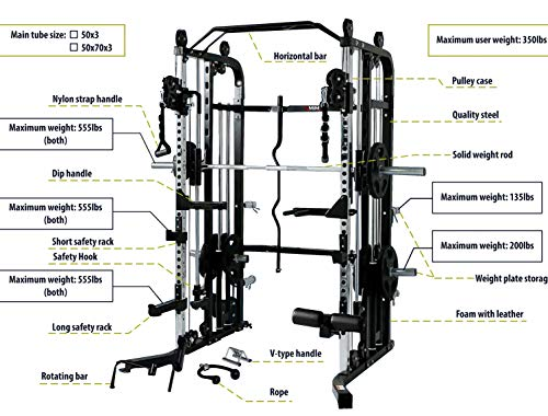 Functional-Trainer-Smith-Machine-Combo-All-in-One-Commercial-Grade-Ultimate-Home-Gym-Machine-Complete-Strength-Solution-MiM-USA-SMFT-1001-Pro-0-1