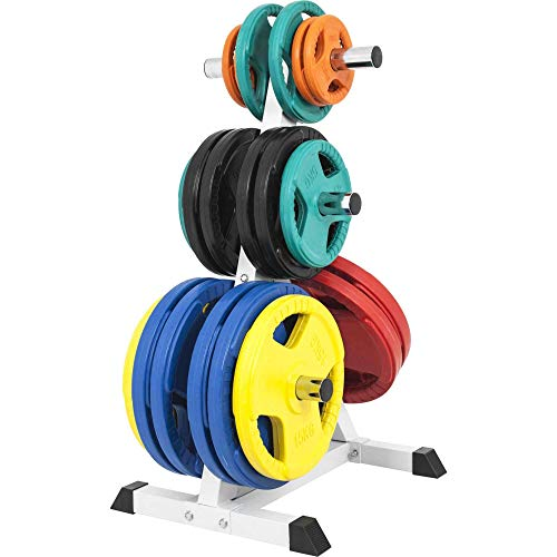 GORILLA-SPORTS-Olympic-2-inch-Plate-Tree-White--Bar-Rack-with-7-Branches-770-lbs-rated-0-1
