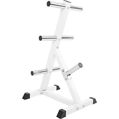 GORILLA-SPORTS-Olympic-2-inch-Plate-Tree-White--Bar-Rack-with-7-Branches-770-lbs-rated-0-2