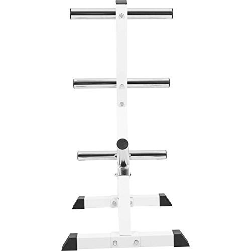 GORILLA-SPORTS-Olympic-2-inch-Plate-Tree-White--Bar-Rack-with-7-Branches-770-lbs-rated-0-3