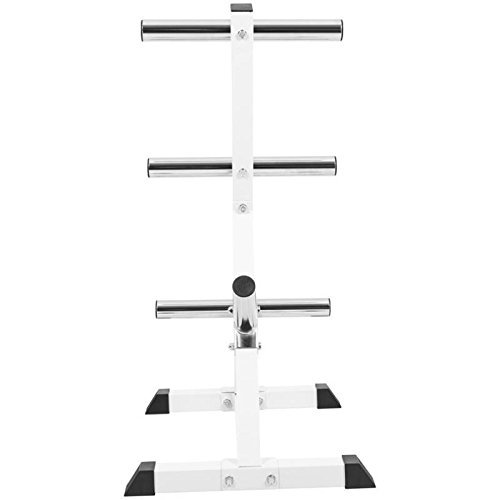 GORILLA-SPORTS-Olympic-2-inch-Plate-Tree-White--Bar-Rack-with-7-Branches-770-lbs-rated-0-5