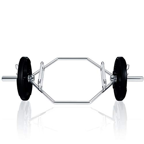 Goplus-Olympic-Hex-Bar-with-Two-Handle-Options-for-Squats-Deadlifts-Shrugs-and-Power-Pulls-56-Long-Chrome-Finish-Hex-Weight-Lifting-Bar-800lbs-Weight-Capacity-Very-Heavy-at-About-53-lbs-0-4