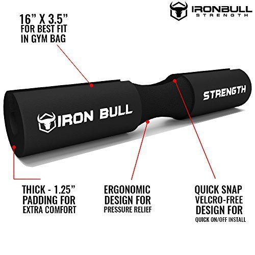 Iron-Bull-Strength-Advanced-Squat-Pad-Barbell-Pad-Squats-Lunges-Hip-Thrusts-Neck-Shoulder-Protective-Pad-Support-0-0