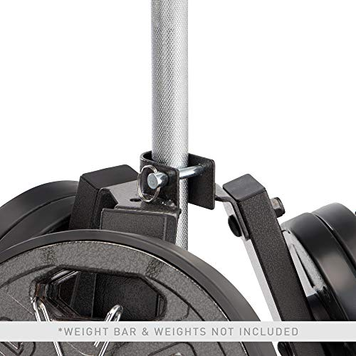 Marcy-6-Peg-Olympic-Weight-Plate-Tree-and-Vertical-bar-Holder-Storage-Rack-Organizer-for-Home-Gym-PT-5757-0-2