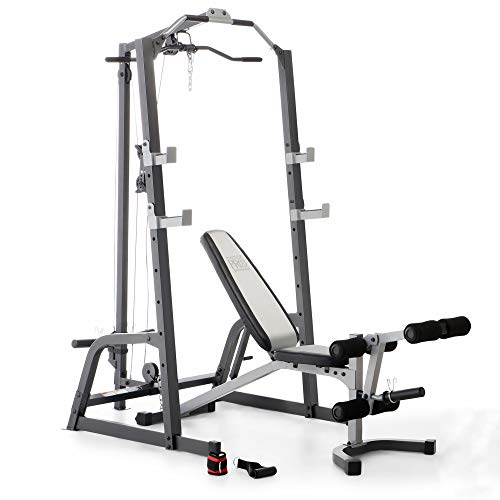 Marcy home gym fitness deluxe cage system machine with weight