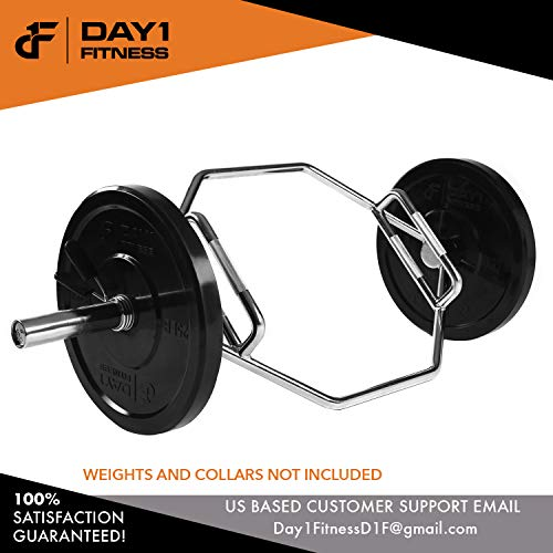 Olympic-2-Inch-Combo-Hex-Bar-by-D1F-for-Weight-Lifting--750lb-Capacity-Silver-Hexagon-Deadlift-Bars-with-Knurled-Handles-for-Powerlifting-Standard-Dead-Squat-Barbell-for-Bodybuilders-0-4