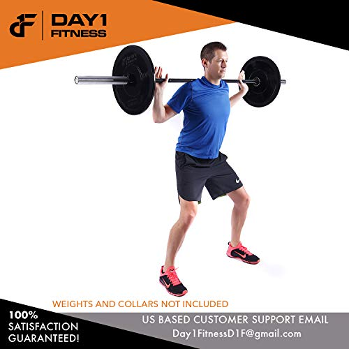 Olympic-Barbell-2-700-OR-1200-POUND-CAPACITY-OPTION-7-by-D1F-for-Weightlifting-Bench-Press-Bodybuilding-Powerlifting-Durable-Crossfit-Bar-Heavy-Duty-Steel-Bars-and-Barbells-Holds-2-Plates-0-4