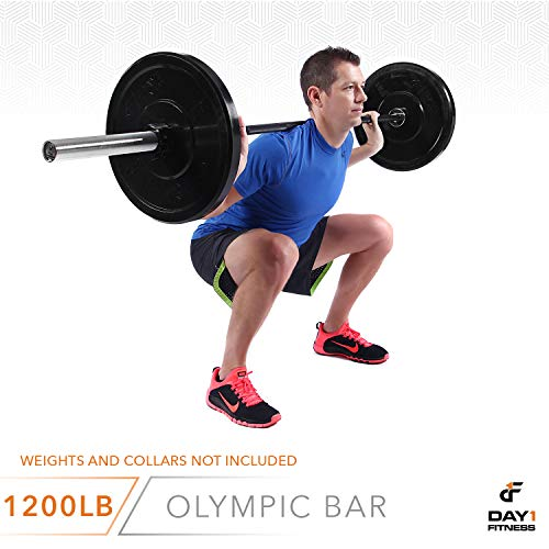 Olympic-Barbell-2-700-OR-1200-POUND-CAPACITY-OPTION-7-by-D1F-for-Weightlifting-Bench-Press-Bodybuilding-Powerlifting-Durable-Crossfit-Bar-Heavy-Duty-Steel-Bars-and-Barbells-Holds-2-Plates-0-5