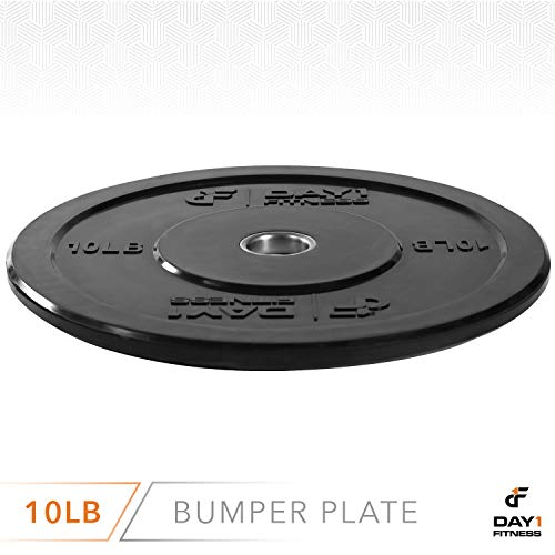 Olympic-Bumper-Plate-2--5-Weights-Available-10-to-45lbs-by-D1F-Weighted-Plates-for-Barbells-Bars-Shock-Absorbing-Minimal-Bounce-Weights-for-Lifting-Strength-Training-Singles-or-Pairs-0-1