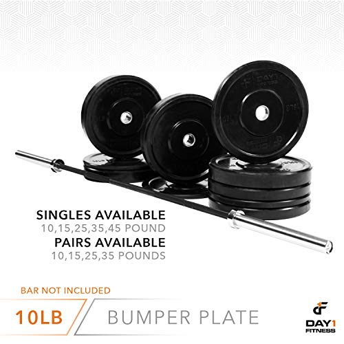 Olympic-Bumper-Plate-2--5-Weights-Available-10-to-45lbs-by-D1F-Weighted-Plates-for-Barbells-Bars-Shock-Absorbing-Minimal-Bounce-Weights-for-Lifting-Strength-Training-Singles-or-Pairs-0-4