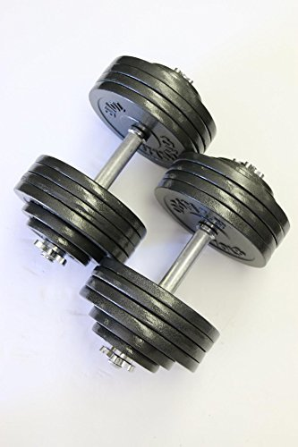 Omnie-Adjustable-Dumbbells-with-Gloss-Finish-and-Secure-Fit-Collars-for-Crossfit-WOD-Weightlifting-and-Bodybuilding-for-Health-Fitness-and-Flexibility-Available-in-65-LBS-105-LBS-and-200-LBS-Pair-0-2