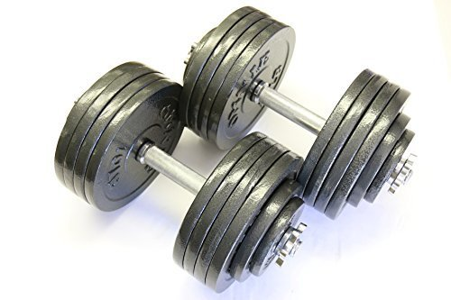 Omnie-Adjustable-Dumbbells-with-Gloss-Finish-and-Secure-Fit-Collars-for-Crossfit-WOD-Weightlifting-and-Bodybuilding-for-Health-Fitness-and-Flexibility-Available-in-65-LBS-105-LBS-and-200-LBS-Pair-0