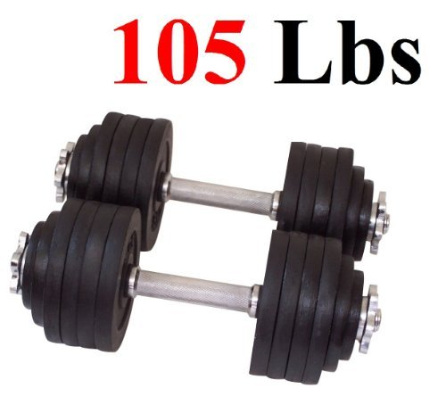 One-Pair-of-Adjustable-Dumbbells-Cast-Iron-Total-105-Lbs-2-X-525-Lbs-by-Unipack-0