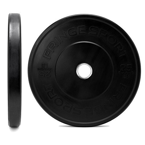OneFitWonder-160-Lbs-Bumper-Plates-SetVirgin-Rubber-Low-Bounce-Odorless-Premium-Olympic-Weight-Plates-for-Crossfit-TrainingWeight-LiftingHome-Gym-Sold-in-Pair-of-10-lbs25-lbs45-lbs-0-1