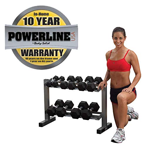 Powerline-by-Body-Solid-2-Tier-Horizontal-Dumbbell-Rack-with-Rubber-Hex-Dumbbells-PDR282X-RFWS-0-4