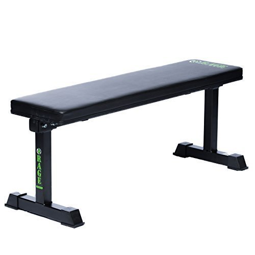 Rage-Fitness-Flat-Bench-Weightlifting-Training-1000-lb-Capacity-0