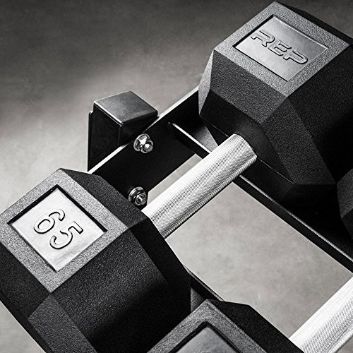Rep-Rubber-Hex-Dumbbell-Set-with-Racks-5-50-Set-5-75-Set-5-100-Set-25-275-Set-55-75-80-100-or-105-125-Set-Available-with-and-Without-Racks-0-2