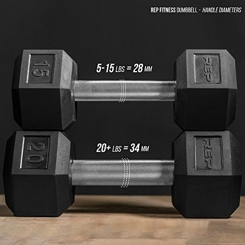 Rep-Rubber-Hex-Dumbbell-Set-with-Racks-5-50-Set-5-75-Set-5-100-Set-25-275-Set-55-75-80-100-or-105-125-Set-Available-with-and-Without-Racks-0-3