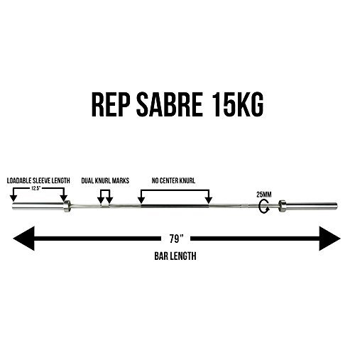 Rep-Sabre-Olympic-Bar-1000-lb-Rated-Barbell-for-Cross-Training-Olympic-and-Power-Lifting-0-2