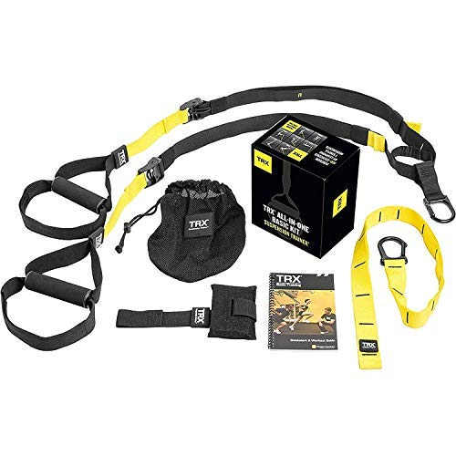 TRX-ALL-IN-ONE-Suspension-Training-System-Full-Body-Workouts-for-your-Home-Gym-Travel-and-Outdoors-Includes-Indoor-Outdoor-Anchors-Workout-Guide-and-Video-Downloads-0