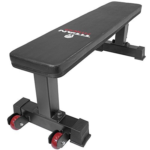 Titan-Fitness-Flat-Weight-Bench-1000-lb-Rated-Capacity-wHandle-Wheels-0-10