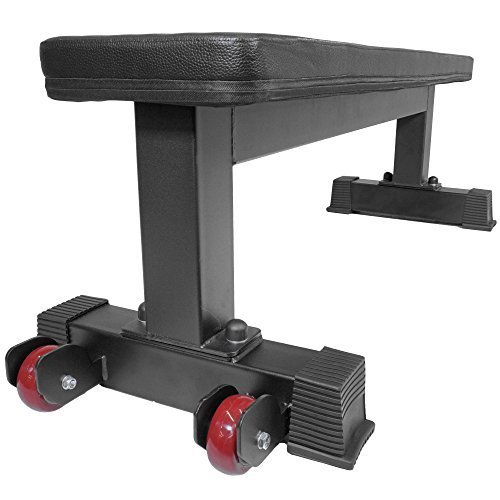 Titan-Fitness-Flat-Weight-Bench-1000-lb-Rated-Capacity-wHandle-Wheels-0-12