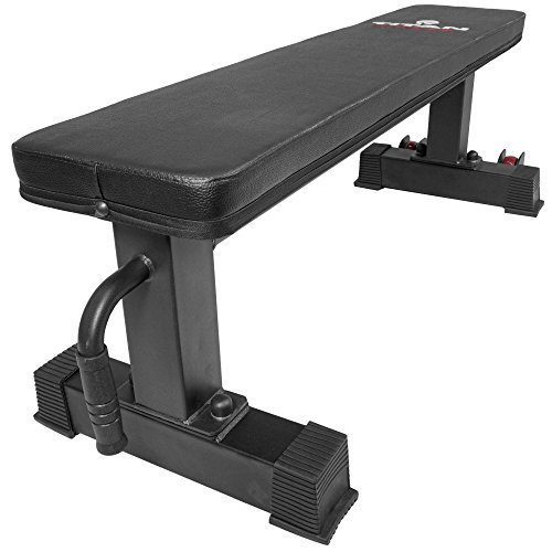 Titan-Fitness-Flat-Weight-Bench-1000-lb-Rated-Capacity-wHandle-Wheels-0-8