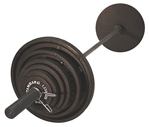USA-Sports-Olympic-Black-Weight-Set-Black-Bar-300-Pounds-0