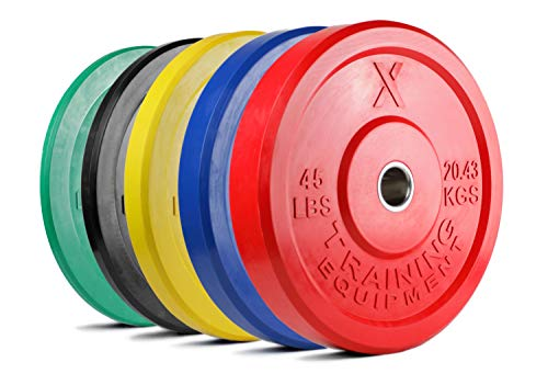 X-Training-Equipment-Premium-Color-Bumper-Plate-Solid-Rubber-with-Steel-Insert-Great-for-Crossfit-Workouts-0-0