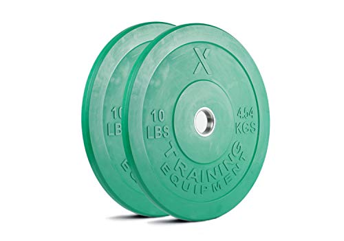 X-Training-Equipment-Premium-Color-Bumper-Plate-Solid-Rubber-with-Steel-Insert-Great-for-Crossfit-Workouts-0