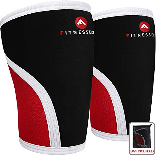 Fitnessery Knee Sleeves For Crossfit Powerlifting Weightlifting And Knee Support 7mm Knee Sleeves Knee Sleeves Crossfit Knee Sleeves Powerlifting Knee Compression Sleeve X 2 Home Workout Habit
