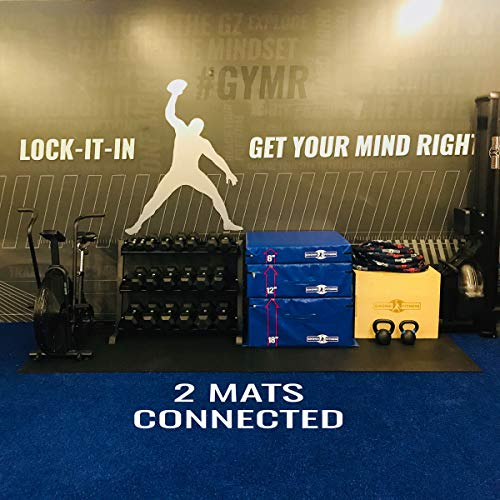 Gronk-Fitness-Spike-Mats-4x6-Diamond-Pattern-Heavy-Duty-Gym-Rubber-Flooring-0-3