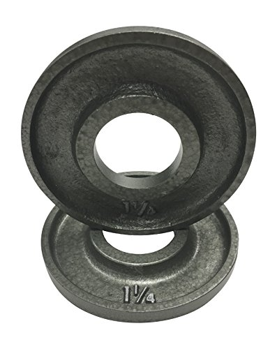 Ivanko-OM-125-Cast-Iron-Machined-Olympic-Plate-Grey-125-lbs-PAIR-0-1