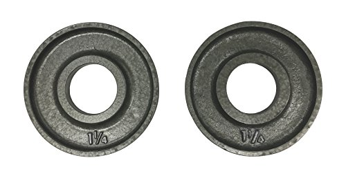 Ivanko-OM-125-Cast-Iron-Machined-Olympic-Plate-Grey-125-lbs-PAIR-0