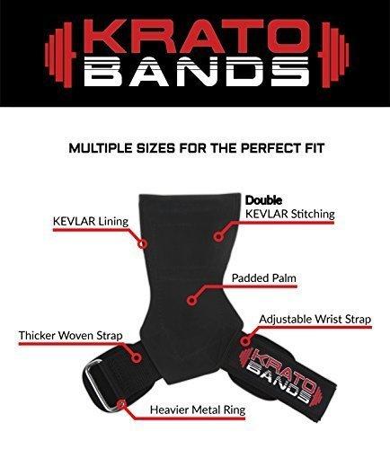 Krato-Bands-Kevlar-PRO-Superior-Strength-and-Comfort-Kevlar-Design-Makes-Them-The-Strongest-Versa-Lifting-Grips-Straps-Gloves-Hooks-Available-Versatile-Weightlifting-0-5