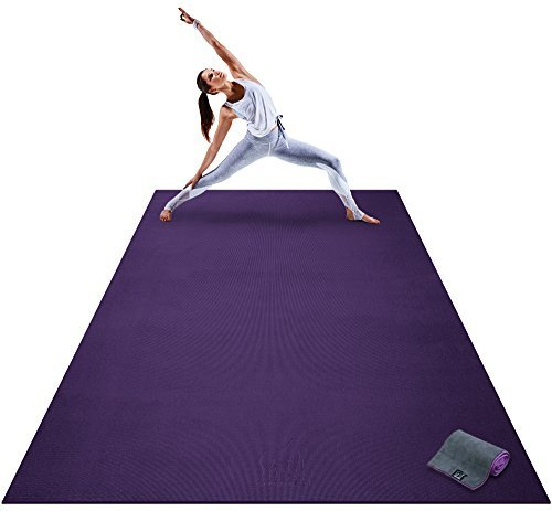 Premium-Extra-Large-Yoga-Mat-9-x-6-x-8mm-Extra-Thick-Comfortable-Non-Toxic-Non-Slip-Barefoot-Exercise-Mat-Yoga-Stretching-Cardio-Workout-Mats-Home-Gym-Flooring-108-Long-x-72-Wide-0