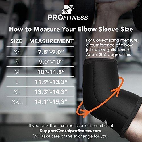 ProFitness-Weight-Lifting-Elbow-Sleeves-5mm-Thick-Neoprene-Elbow-Support-Compression-Braces-for-Weightlifting-Tennis-Sports-Prevent-Injuries-Tendonitis-Arthritis-Forearm-Pain-0-2
